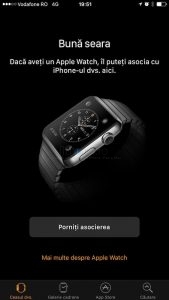Asociere Configurare AppleWatch