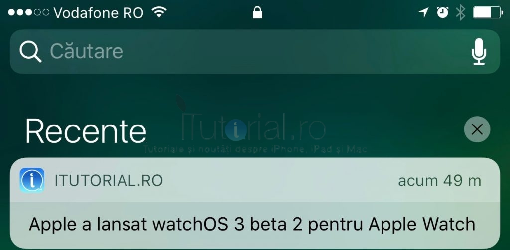 ios10b2 recente centru de notificari