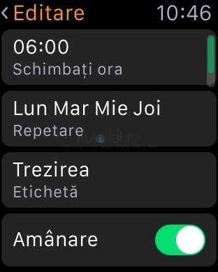 applewatch editare alarma