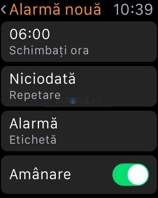 applewatch reglare alarma