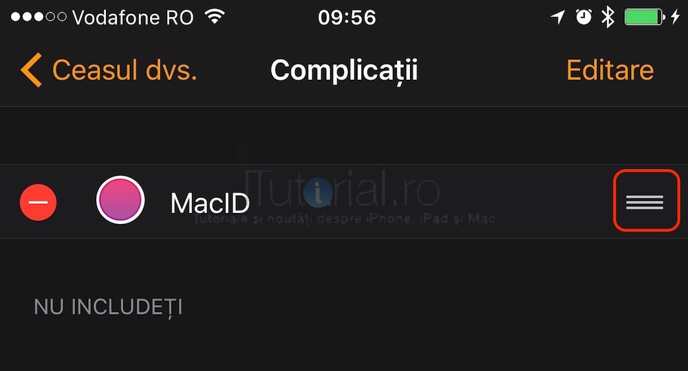 applewatch reordonare complicatii