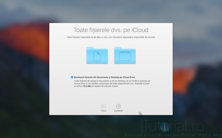 icloud drive documente desktop macossierra