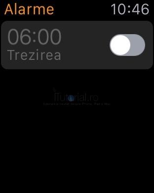 oprire alarma applewatch