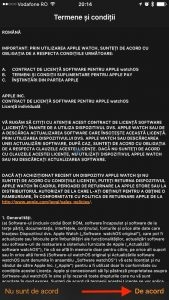 termeni și conditii applewatch