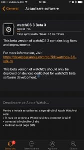 watchos3 incarcare