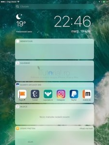 widget ipad ios10
