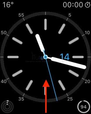 accesare glance : centru de control watchos