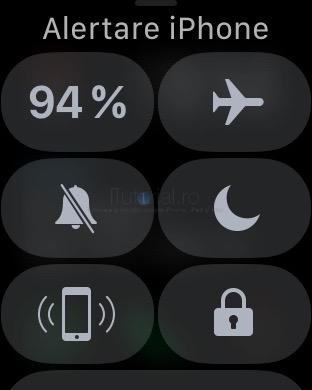 alertareiphone centru control watchos