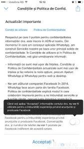 dezactivare distribuire whatsapp facebook