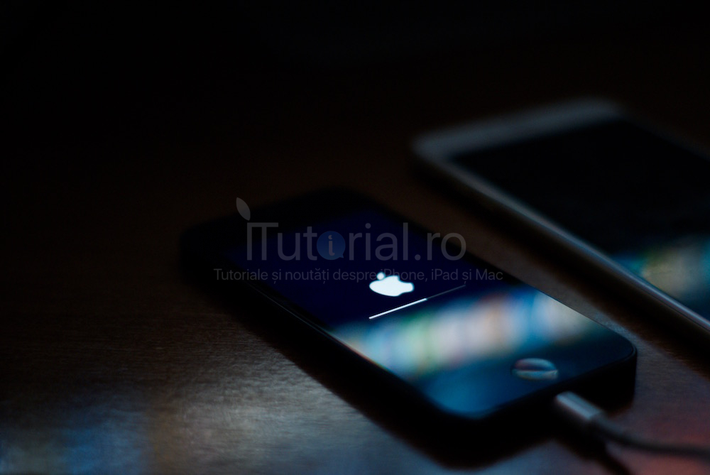 restaurare actualizare bara progres sigla apple iphone