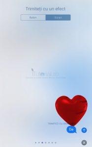 dragoste efect ecran mesaje ios 10.2 beta3