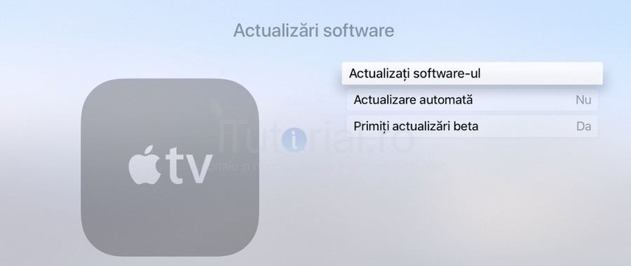 actualizati software-ul apple tv