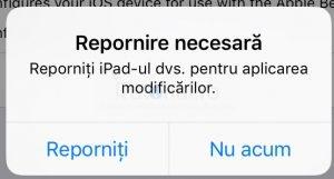 ios 12 beta repornire necesara instalare profil