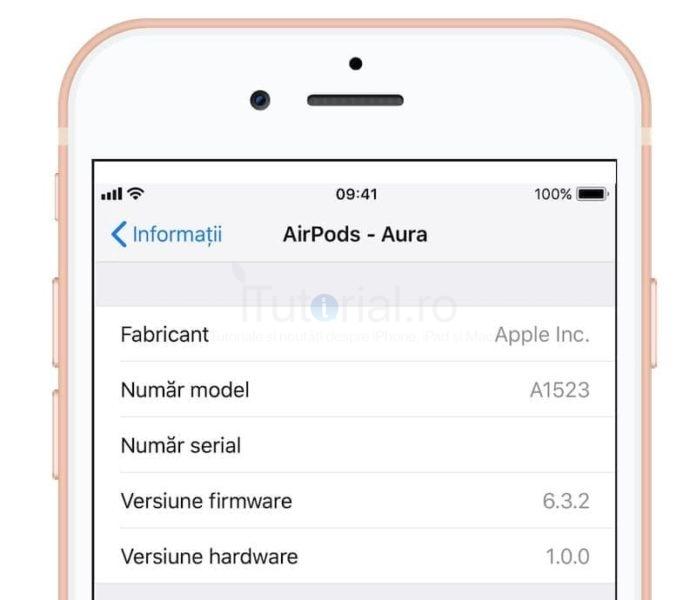 actualizare airpods 1
