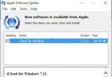 iCloud pentru Windows 7.11