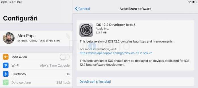 ios 12.2 beta 5