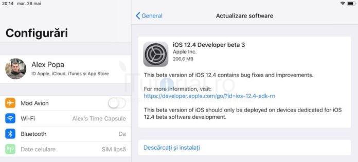 ios 12.4 beta 3