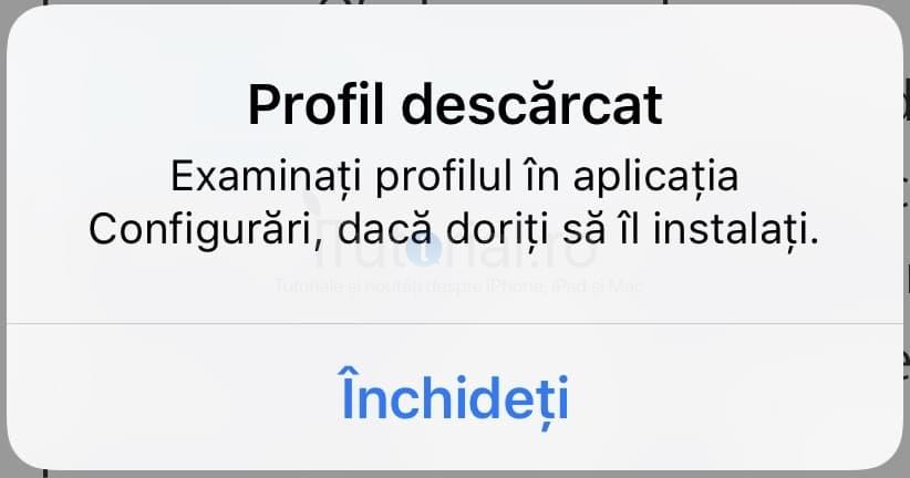 profil descarcat cum instalez ios 13 public beta