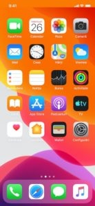 ecran principal home iphone x ios 13