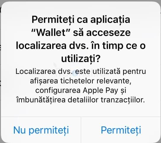 localizarea wallet