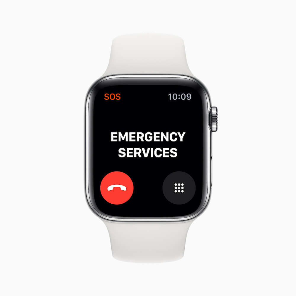 Apple watch series 5 emergency services