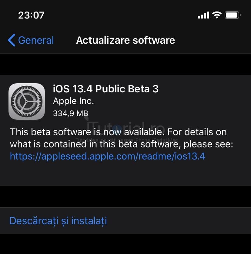 Apple a lansat iOS 13.4 beta 3 și iPadOS 13.4 beta 3 și public beta 3 pentru iPhone și iPad