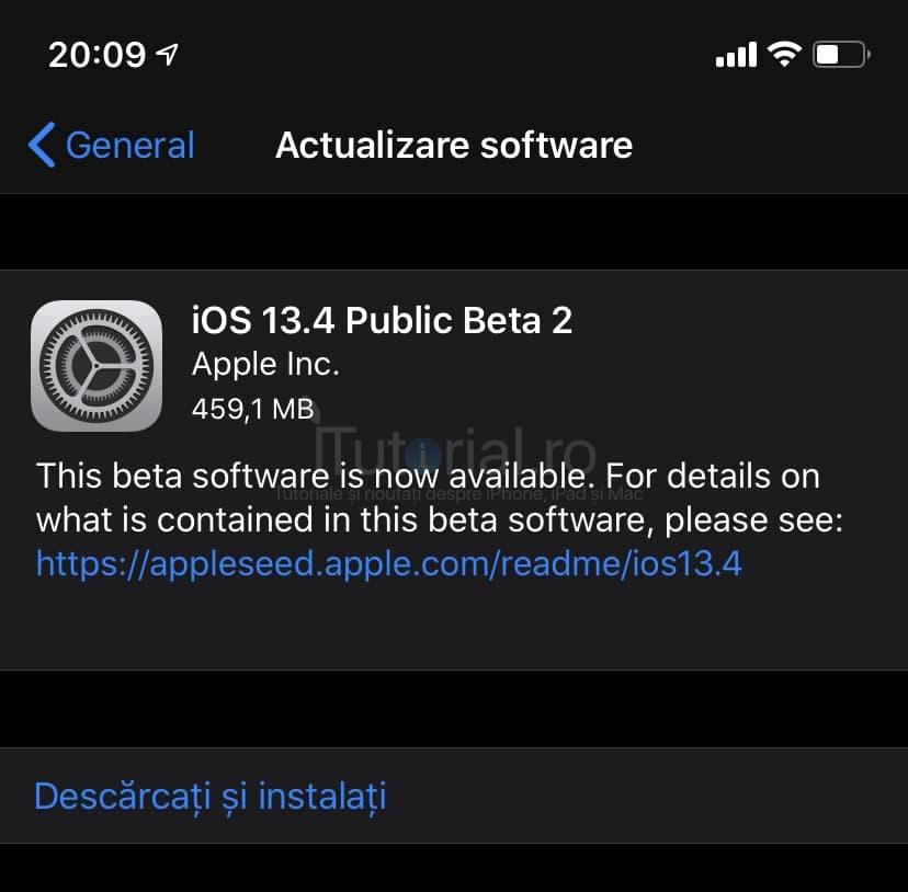 iOS 13.4 public beta 2 și iPadOS 13.4 public beta 2 au fost lansate pentru iPhone și iPad