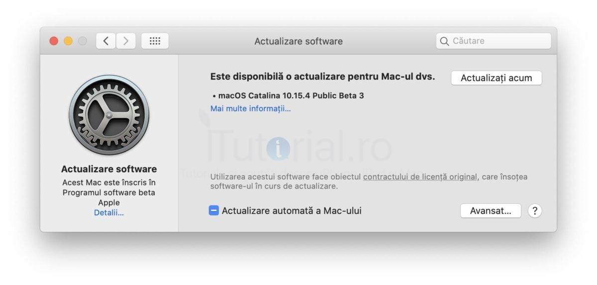 macOS 10.15.4 Catalina beta 3 a fost lansat pentru dezvoltatori (actualizare: și macOS 10.15.4 ăublic beta 3 este disponibil)