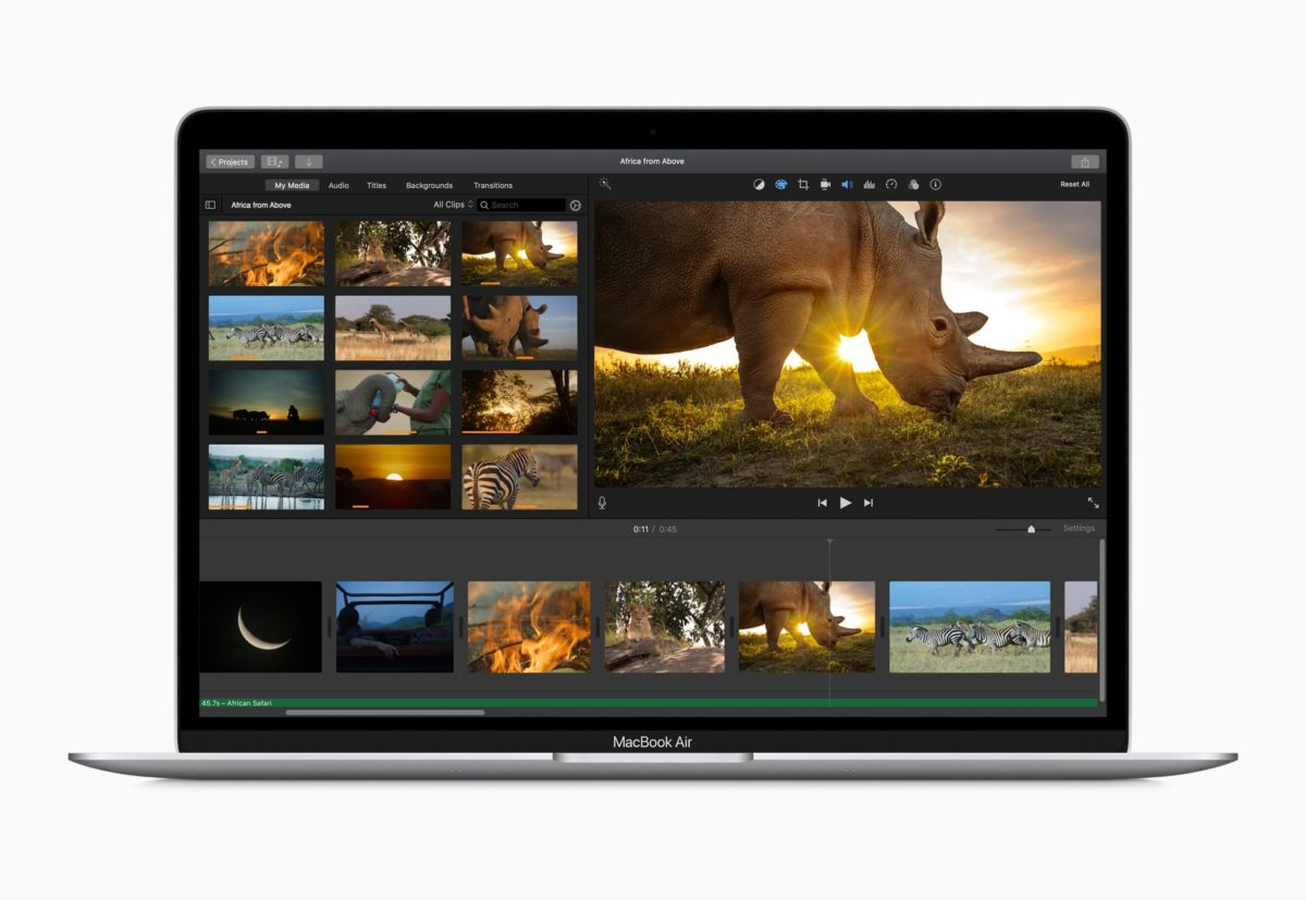 macbook air performante 2020