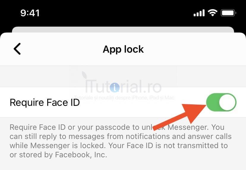 facebook messenger blocare cod acces