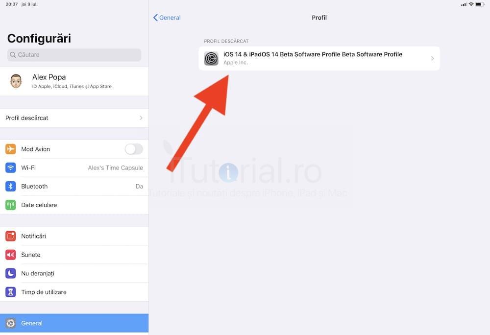 profil beta ios 14 public instalati