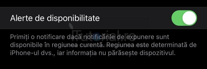 alerte disponibilitate notificari expunere