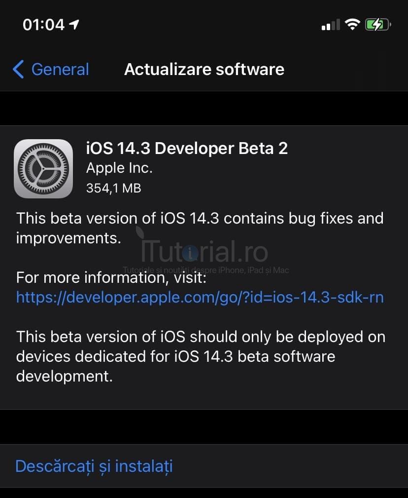 iOS 14.3 beta 2 și iPadOS 14.3 beta 2 au fost lansate pentru iPhone și iPad