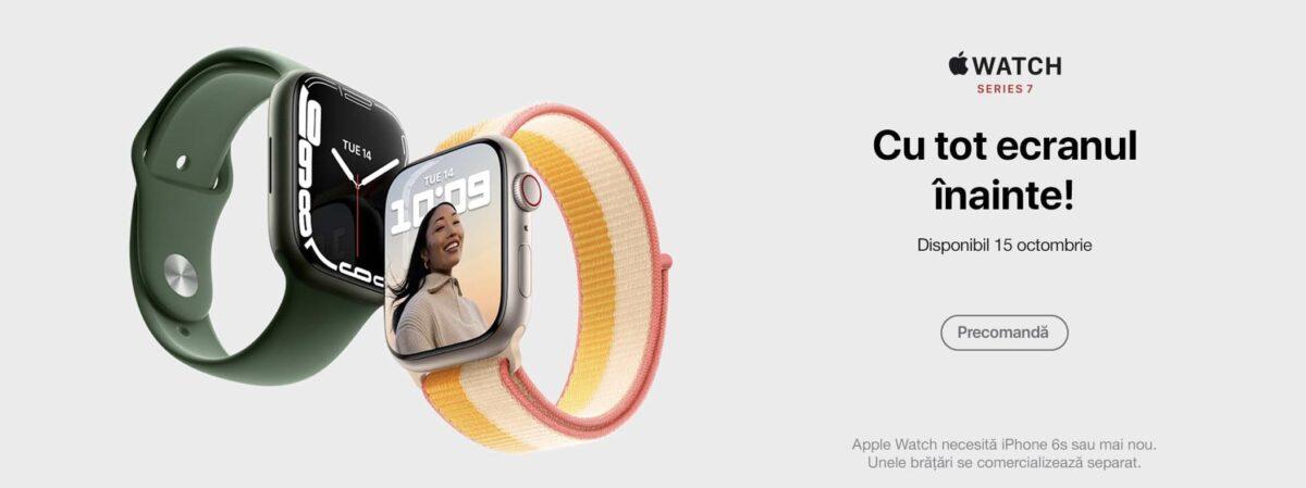 Apple Watch Series 7 este disponibil la precomandă în România – iată la ce pret