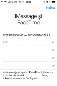 iMessage si Facetime