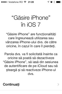 Gasire iPhone iOS 7 configurare