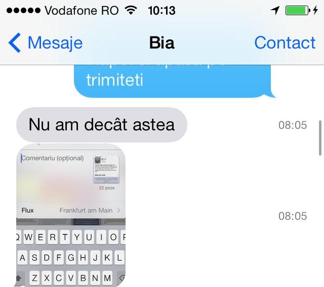 Aplicatie pentru mesaje iphone
